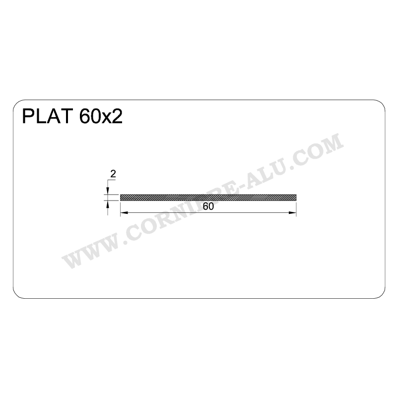 Plat Aluminium 60
