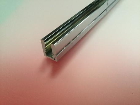 F209 Profils à pareclose aluminium chromé brillant pour verre 8 mm